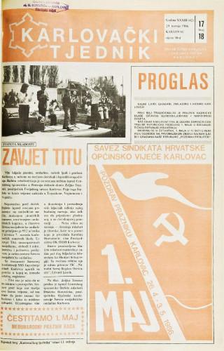 Karlovački tjednik: 1986 • 17/18