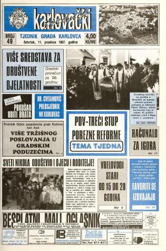 Karlovački tjednik: 1997 • 49