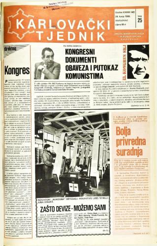 Karlovački tjednik: 1986 • 25