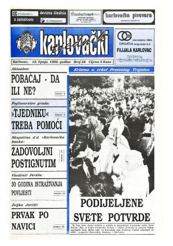 Karlovački tjednik: 1995 • 24
