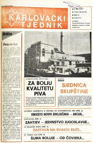 Karlovački tjednik: 1988 • 16