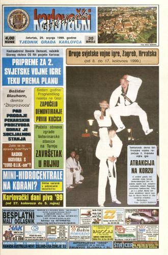 Karlovački tjednik: 1999 • 30