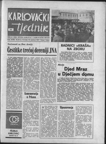 Karlovački tjednik: 1971 • 51