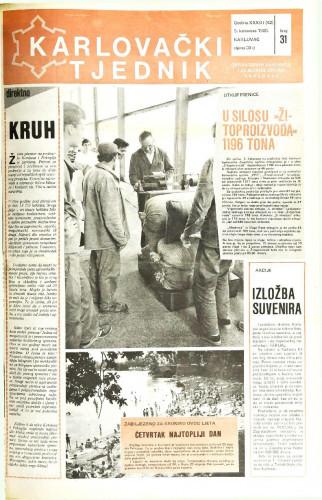 Karlovački tjednik: 1986 • 31