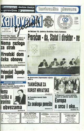 Karlovački tjednik: 1994 • 16