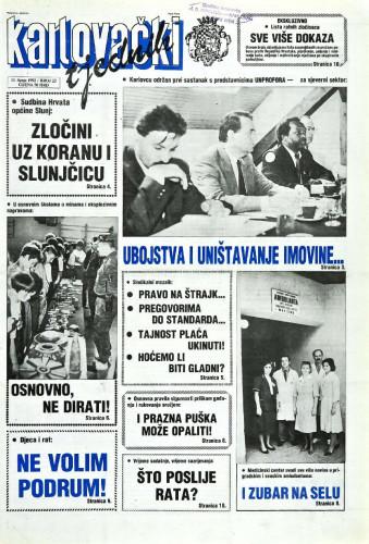 Karlovački tjednik: 1992 • 23