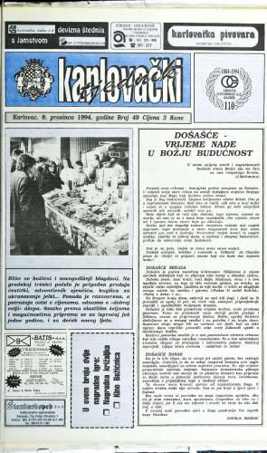 Karlovački tjednik: 1994 • 49