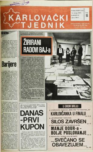 Karlovački tjednik: 1987 • 15