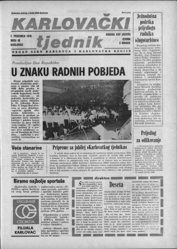 Karlovački tjednik: 1978 • 49