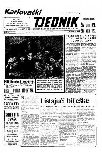 Karlovački tjednik: 1956 • 52-56