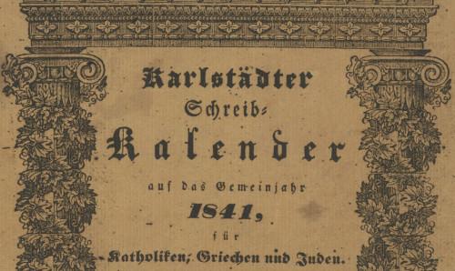 Karlstädter Schreib - Kalender