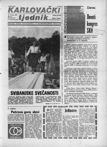 Karlovački tjednik: 1982 • 19