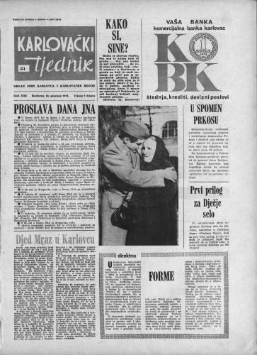 Karlovački tjednik: 1974 • 51