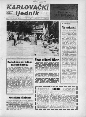 Karlovački tjednik: 1982 • 29