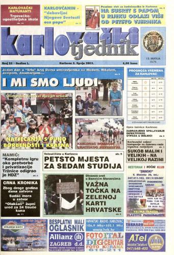 Karlovački tjednik: 2003 • 23