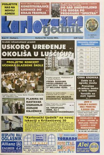 Karlovački tjednik: 2003 • 17