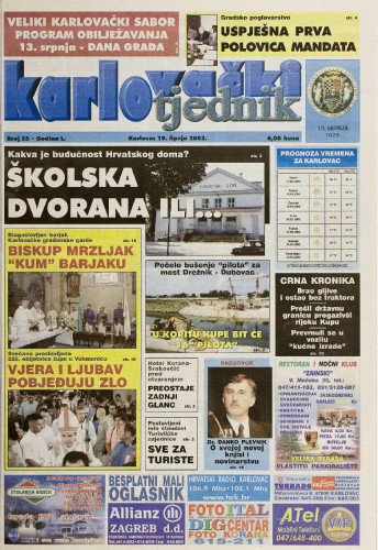 Karlovački tjednik: 2003 • 25