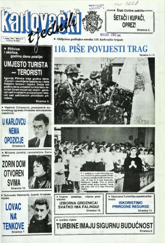 Karlovački tjednik: 1992 • 26(25)
