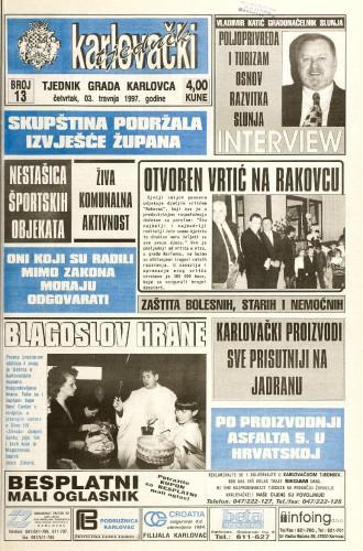 Karlovački tjednik: 1997 • 13