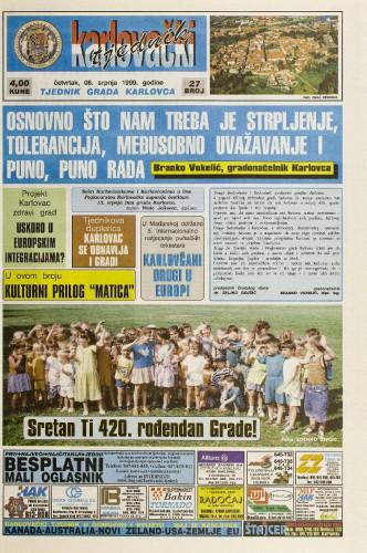 Karlovački tjednik: 1999 • 27