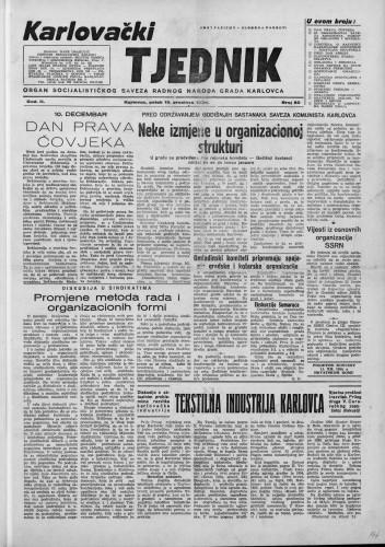 Karlovački tjednik: 1954 • 50