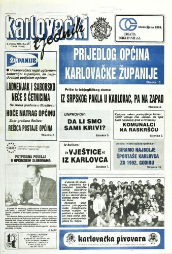 Karlovački tjednik: 1992 • 48