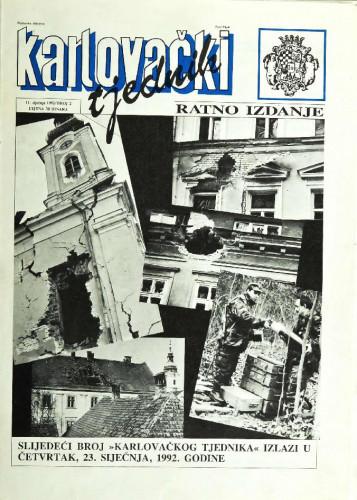 Karlovački tjednik: 1992 • 2