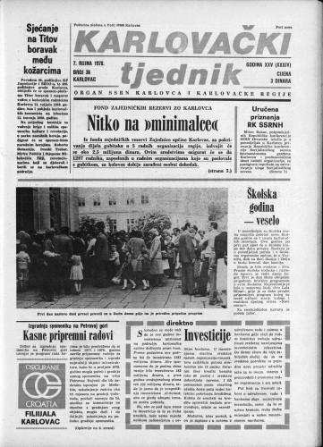Karlovački tjednik: 1978 • 36