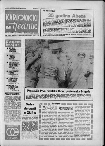 Karlovački tjednik: 1976 • 29