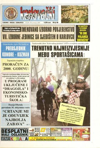 Karlovački tjednik: 1999 • 49