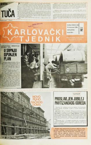 Karlovački tjednik: 1986 • 32