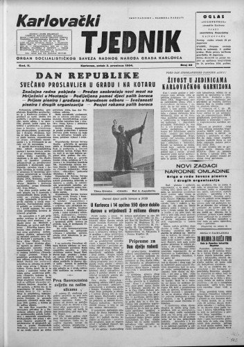 Karlovački tjednik: 1954 • 49