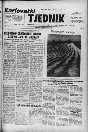 Karlovački tjednik: 1954 • 11