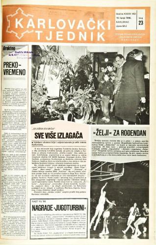 Karlovački tjednik: 1986 • 23