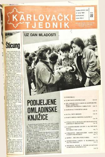 Karlovački tjednik: 1987 • 22