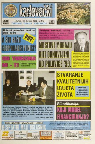 Karlovački tjednik: 1998 • 17