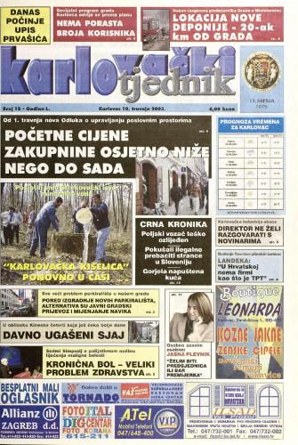 Karlovački tjednik: 2003 • 15