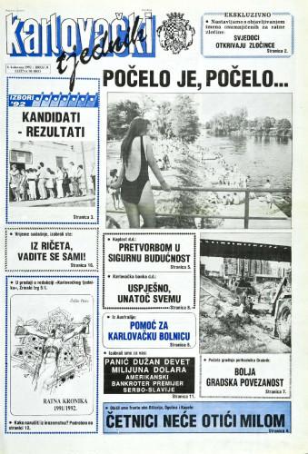 Karlovački tjednik: 1992 • 31