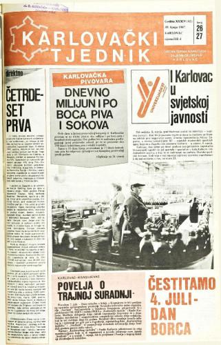 Karlovački tjednik: 1987 • 26/27