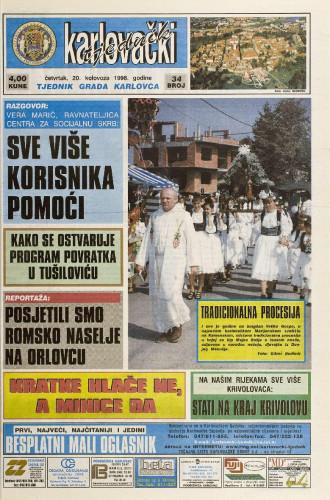 Karlovački tjednik: 1998 • 34
