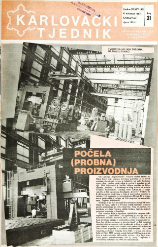 Karlovački tjednik: 1987 • 31