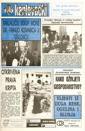 Karlovački tjednik: 1996 • 30