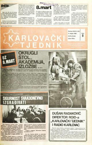 Karlovački tjednik: 1987 • 9