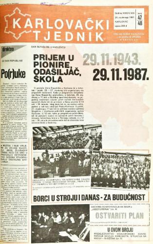Karlovački tjednik: 1987 • 47/48