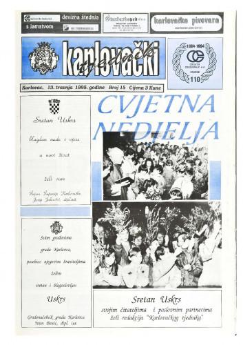 Karlovački tjednik: 1995 • 15