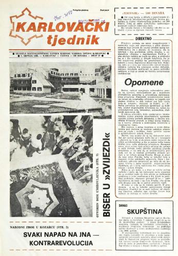 Karlovački tjednik: 1988 • 27