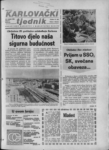 Karlovački tjednik: 1980 • 21