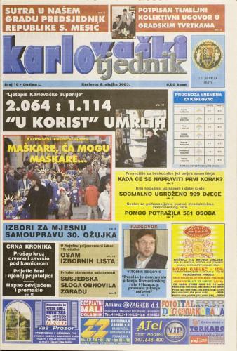 Karlovački tjednik: 2003 • 10