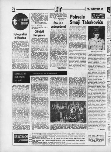 Karlovački tjednik: 1974 • 33