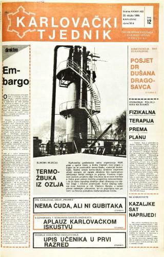 Karlovački tjednik: 1986 • 12